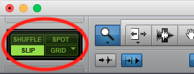 Pro Tools First edit buttons