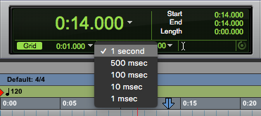 A guide to using the Pro Tools First edit mode buttons - grid mode