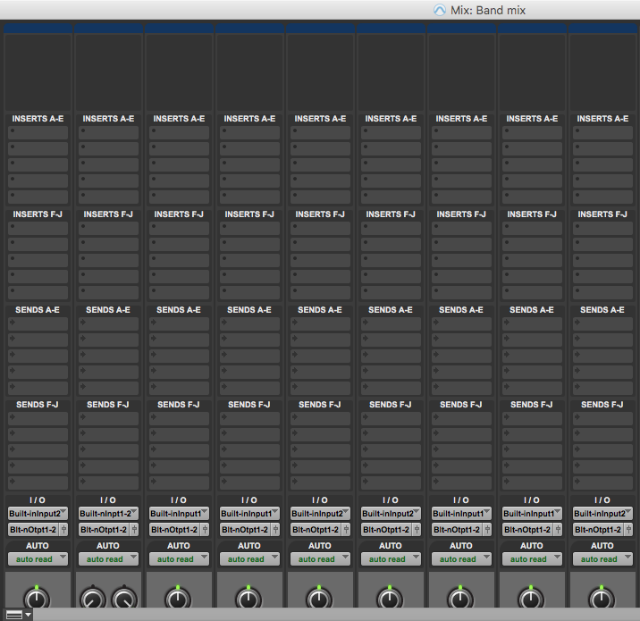 Customise mix window in pro tools first - all