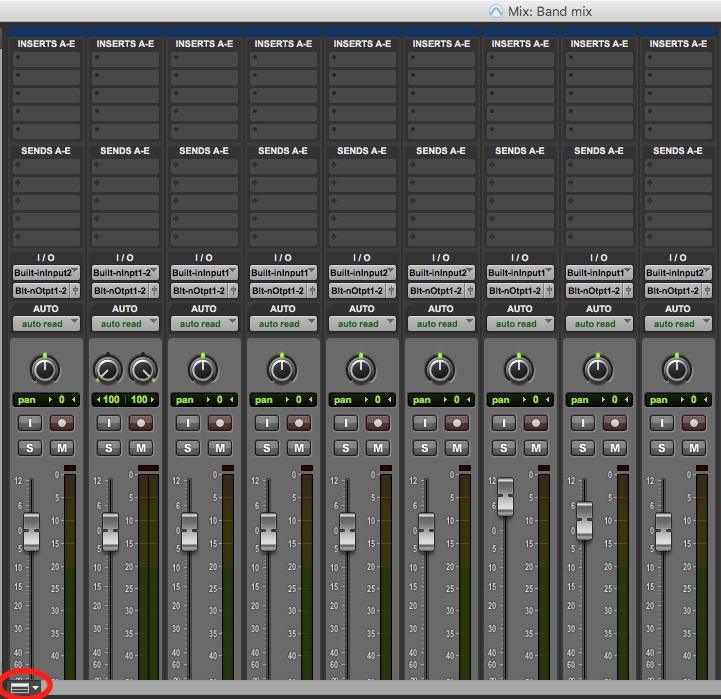 Customise mix window in pro tools first - icon