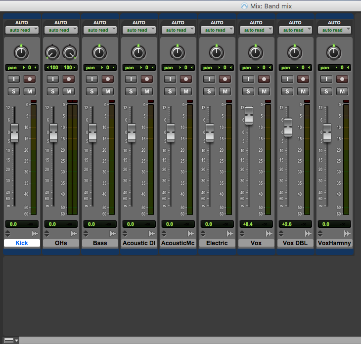 Customise mix window in pro tools first - minimal