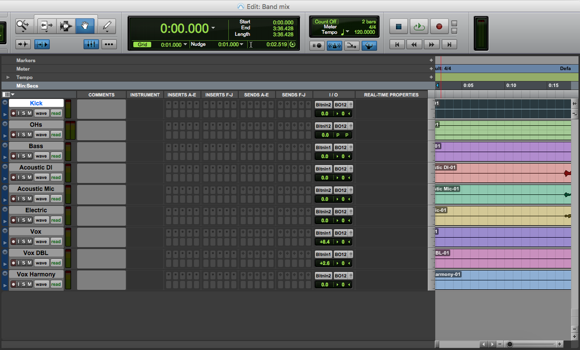 Customize edit window in pro tools first - all