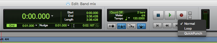 Pro TOols First Quick Punch - enable quick punch