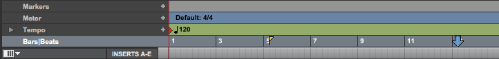 Pro Tools First Pre roll - time base ruler