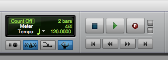 Pro Tools First Quick Punch - quick punch enabled