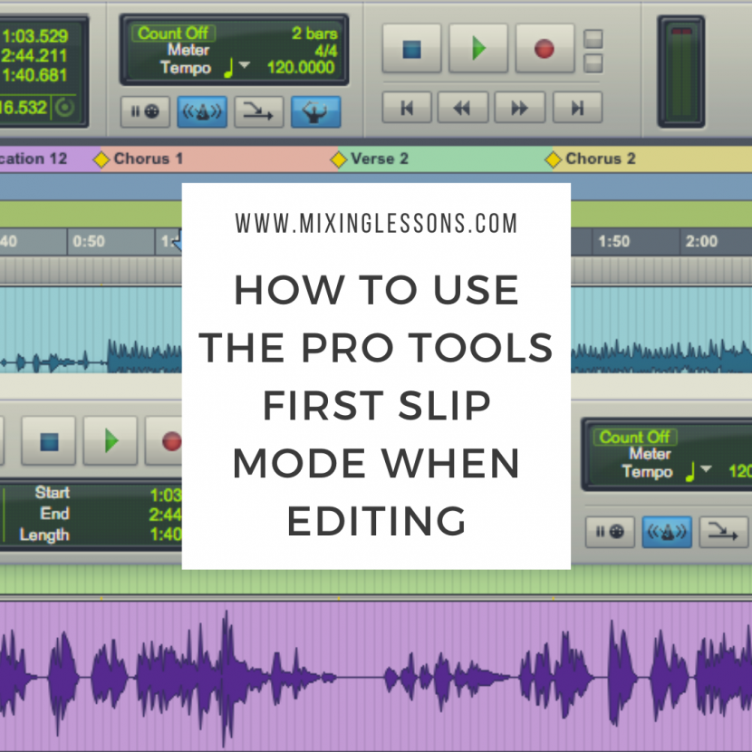 How to use the Pro Tools First slip mode when editing