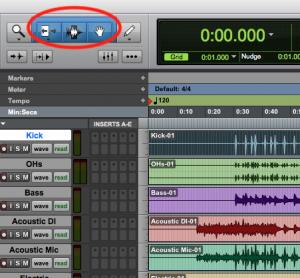 Pro Tools First Smart Tool - edit tools
