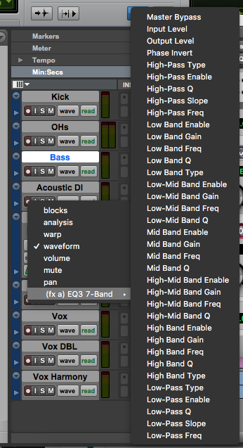 automate pro tools first plugins - track view selector