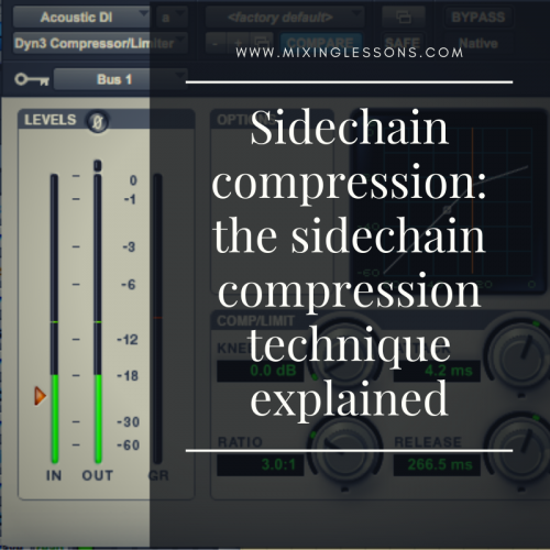 Sidechain compression: the sidechain compression technique explained
